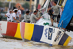 2008 Monsoon Cup. First round robins. Pre start Ian Williams and Paolo Cian.(Wednesday 3rd December 2008). .