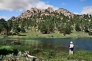 A Quiet Mountain Lake At Rocky Mountain National Park, Colorado