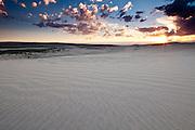 Killpecker Sand Dunes in the Red Desert of Wyoming at sunset