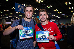 02-11-2018 USA: NYC Marathon We Run 2 Change Diabetes day 1, New York<br /> The day to get up for your number at the Expo / Tobias, Jochem