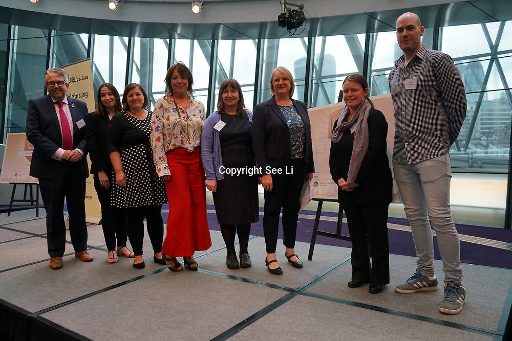 """City Hall, London, Uk, 29th June 2017. Crownfield Infant School, Langtons Infant School, Glebe Primary, St Philip's, Links Primary School, All Saints Benhilton """"silver Awards"""" of the City Hall awards at the Health and education experts celebrate London's healthiest schools."""