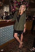 NOELLE RENO, spotted at Bloom & Wild's exclusive event at 5 Hertford Street last night. 5 September 2017. The event was announcing the new partnership between the UK's most loved florist, Bloom & Wild and British floral design icon Nikki Tibbles Wild at Heart. Cocooned in swaths of vibrant Autumn blooms, guests enjoyed floral-inspired cocktails from Sipsmith and bubbles from Chandon, with canapés put on by 5 Hertford Street. Three limited edition bouquets from the partnership can be bought through Bloom & Wild's website from the 1st September.  bloomandwild.com/WAH
