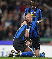"Esultanza Patrick Vieira<br /> Udine 05-04-2009 Stadio ""Friuli""<br /> Campionato Serie A 2008-2009<br /> Udinese-Inter<br /> foto Prater Insidefoto"