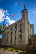 The White Tower is a central tower, the old keep, at the Tower of London. It was built by William the Conqueror.