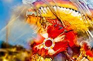 Crow Fair, powwow, Fancy Dancer, Crow Indian Reservation, Montana, blurred motion