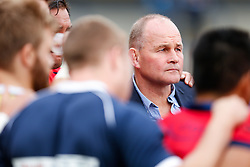Bristol Director of Rugby Andy Robinson looks on in a huddle with his players after they record a 13-26 victory - Photo mandatory by-line: Rogan Thomson/JMP - 07966 386802 - 14/09/2014 - SPORT - RUGBY UNION - Leeds, England - Headingley Carnegie Stadium - Yorkshire Carnegie v Bristol Rugby - Greene King IPA Championship.