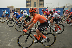 March 1, 2019 - Ajman, United Arab Emirates - Patrick Bevin of CCC Team, seen during the start line of the sixth Rak Properties Stage of UAE Tour 2019, a 180km with a start from Ajman and finish in Jebel Jais. .On Friday, March 1, 2019, in Ajman, Ajman Emirate, United Arab Emirates. (Credit Image: © Artur Widak/NurPhoto via ZUMA Press)