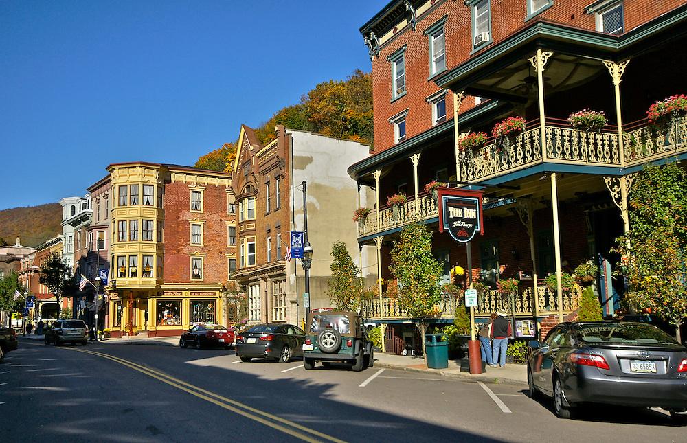 Broadway, Jim Thorpe Fall Foliage Celebration, Jim Thorpe, Carbon Co., PA