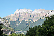 Monte Perdido in Ordesa National Park. Huesca, Aragon, Spain