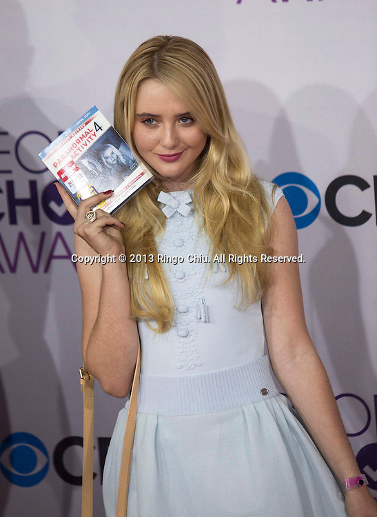 Kathryn Newton arrives at the 39th Annual People's Choice Awards at Nokia Theatre L.A. Live on Wednesday January 9, 2013 in Los Angeles, California, United States. (Photo by Ringo Chiu/PHOTOFORMULA.com)