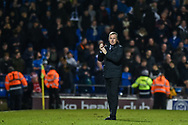 Portsmouth Manager, Kenny Jackett applauds the fans at full time during the EFL Sky Bet League 1 match between Portsmouth and Sunderland at Fratton Park, Portsmouth, England on 22 December 2018.