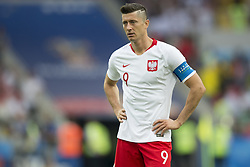 June 19, 2018 - Moscow - Robert Lewandowski of Poland dejected during the 2018 FIFA World Cup Group H match between Poland and Senegal at Spartak Stadium in Moscow, Russia on June 19, 2018  (Credit Image: © Andrew Surma/NurPhoto via ZUMA Press)