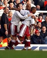 Fotball, 19. januar 2003 , Premier League, Arsenal - West Ham, Jermain Defoe, Lee Bowyer, West Ham<br /> Foto: Robin Parker, Digitalsport