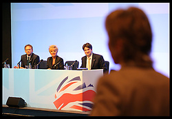 Co-Chairman Grant Shapps speaking at The Road to 2015 'Meet The Chairmen' at the Conservative Party Conference in Birmingham, Sunday,  October 7th 2012. Photo by: Stephen Lock / i-Images