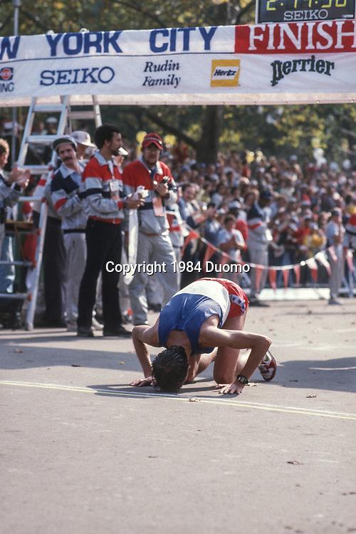 Orlando Pizzolato (ITA) winner of the 1984 New York City Marathon