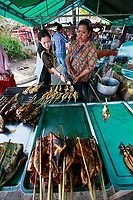 kempot, grilled chicken and seafood street food, crab market