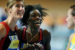 07-02-2010 ATLETIEK: NK INDOOR: APELDOORN<br /> Karin Ruckstuhl Nederlands kampioen 60 m horden  en Jo An Plet<br /> ©2010-WWW.FOTOHOOGENDOORN.NL