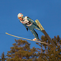 Raw Air photos from Vikersund Ski Flying Hill. Raw Air is a ten day ski jumping and ski flying tournament and is part of the World Cup competition. <br /> Raw Air 2017 was held in March 2017 in Norway at four different ski jumping hills - Oslo, Lillehammer, Trondheim and Vikersund. <br /> Vikersund Hill is a ski flying hill, in Modum, Norway. and it is the largest in the world. Nine world records have been set on this hill, with the current one at 253.5 meters set by Stefan Kraft (Austria) on the 18th March 2017.