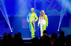 Klemen Bauer and Cilka Sadar during presentation of Team Slovenia for Sochi 2014 Winter Olympic Games on January 22, 2014 in Grand Hotel Union, Ljubljana, Slovenia. Photo by Vid Ponikvar / Sportida