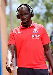 """Crystal Palaces Mamadou Sakho arrives at Madejski Stadium during the pre-season friendly match at the Madejski Stadium, Reading. PRESS ASSOCIATION Photo. Picture date: Saturday July 28, 2018. See PA story SOCCER Reading. Photo credit should read: Mark Kerton/PA Wire. RESTRICTIONS: EDITORIAL USE ONLY No use with unauthorised audio, video, data, fixture lists, club/league logos or """"live"""" services. Online in-match use limited to 75 images, no video emulation. No use in betting, games or single club/league/player publications."""