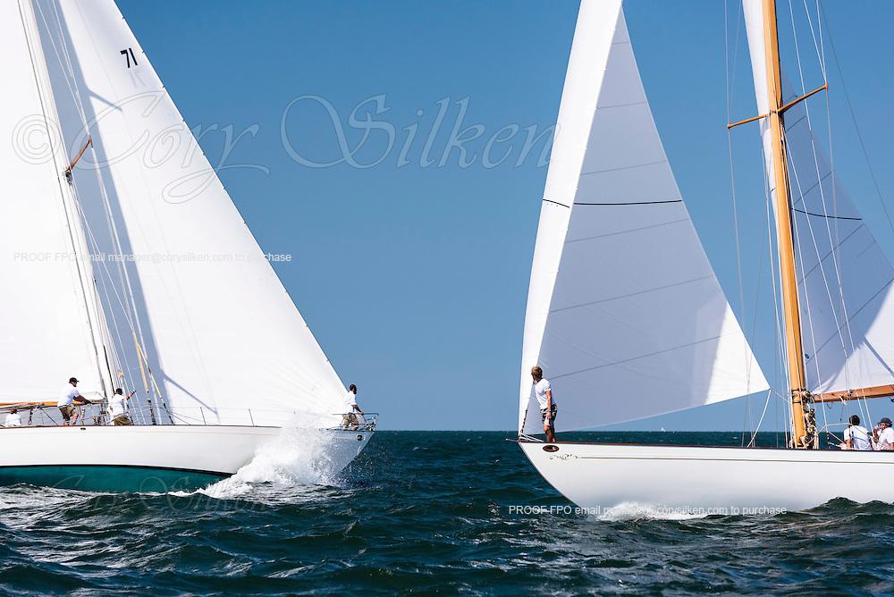 Black Watch and Santana sailing in the Sail Nantucket Regatta. Photo by Cory Silken / Panerai, © 2016 Cory Silken.