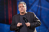 """Jon Stewart  Hosting  the """"Rally to Restore Sanity And/Or Fear""""  in Washington DC.  A crowd estimated  between 100,000- 200,000  came from across America  to the National Mall on October 30, 2010 before the midterm elections to participate in the """"Rally to Restore Sanity And/Or Fear"""" . Jon Stewart insisted the rally was not a political event, however; the audience had messages of their own on hand made signs for the occasion, many with a political message."""