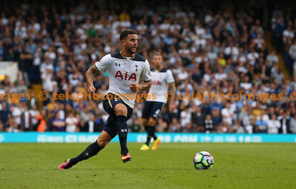 Kyle Walker of Tottenham during the Premier League match between Tottenham Hotspur and Sunderland AFC at White Hart Lane in London. September 18, 2016.<br /> James Boardman / Telephoto Images<br /> +44 7967 642437