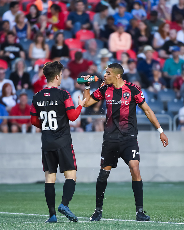 OTTAWA, ON - JUNE 02: USL match between the Ottawa Fury FC and Charlotte Independence at TD Place Stadium in Ottawa, ON. Canada on June 02, 2018.<br /> <br /> PHOTO: Steve Kingsman/Freestyle Photography/Ottawa Fury FC