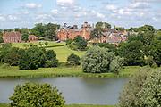 Framlingham College school and the mere lake, Framlingham, Suffolk, England, UK
