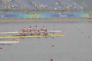 Shunyi, CHINA. NED M4- , (b) CIRKEL Geert, VELLENGA Matthijs, GABRIELS Jan-Willem. VERMEULEN Gijs. 2008 Olympic Regatta,  09/08/2008 [Mandatory Credit: Peter SPURRIER, Intersport Images]