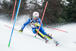 """Chiara Costazza (ITA) competes during 1st Run of FIS Alpine Ski World Cup 2017/18 Ladies' Slalom race named """"Snow Queen Trophy 2018"""", on January 3, 2018 in Course Crveni Spust at Sljeme hill, Zagreb, Croatia. Photo by Vid Ponikvar / Sportida"""