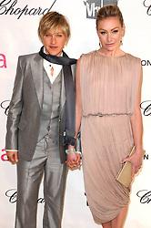 Ellen DeGeneres and Portia de Rossi the 16th Annual Sir Elton John Oscar Party in Los Angeles, CA.