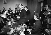 19/07/1967<br /> 07/19/1967<br /> 19 July 1967<br /> Opening of Intercontinental Travel Ltd. at Crumlin Cross, Dublin. The company, an associate company of the Loftus group of Companies was the first Irish Travel Agency to be opened in the outer suburbs of Dublin.<br /> Photo shows Mr. Oliver Flanagan, T.D., President of the Irish Auctioneers Association speaking at the opening, also included are Mrs Flanagan and Mr and Mrs J.J. Loftus, Directors of the Loftus Group.