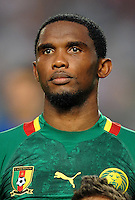 Football Fifa Brazil 2014 World Cup Matchs-Qualifier / Africa - Play-Off / <br /> Tunisia vs Cameroon 0-0  ( Olympic Stadium of Rades , Tunis-Rades , Tunisia ) <br /> Samuel ETO'O of Cameroon ,  during the match between Tunisia and Cameroon