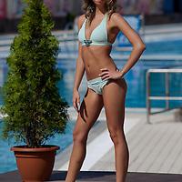 Diana Ficsor participates the Miss Bikini Hungary beauty contest held in Budapest, Hungary on August 29, 2010. ATTILA VOLGYI