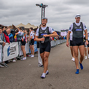 Phillip Wilson (L) , Mahe Drysdale and Sam Bosworth<br /> <br /> Compete in the A Finals at FISA World Rowing Cup III on Sunday 14 July 2019 at the Willem Alexander Baan,  Zevenhuizen, Rotterdam, Netherlands. © Copyright photo Steve McArthur / www.photosport.nz