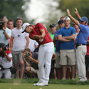Sangmoon Bae, South Korea, in action during the final round of The Barclays Golf Tournament at The Plainfield Country Club, Edison, New Jersey, USA. 30th August 2015. Photo Tim Clayton