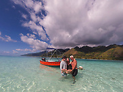 Motu Tiahura, Moorea, French Polynesia, South Pacific