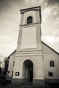 Church on the Kupa River in Brod, Croatia