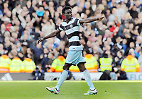 Football - 2016 /2017 Championship - Fulham vs Queens Park Rangers<br /> <br /> Idrissa Sylla of QPR celebrates after scoring the winning goal  at Craven Cottage<br /> <br /> Credit : Colorsport / Andrew Cowie