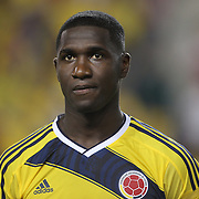 Cristián Zapata, Columbia, during the Columbia Vs Canada friendly international football match at Red Bull Arena, Harrison, New Jersey. USA. 14th October 2014. Photo Tim Clayton