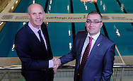 Scottish Swimming Announces New Partnership with Edinburgh Airport<br /> Scottish Swimming and Edinburgh Airport are delighted to announce a new partnership to support Scottish Swimming national events, in particular the Scottish National Diving Championships & Thistle Trophy and the Scottish National Short Course Swimming Championship, both of which are held at the Royal Commonwealth Pool in Edinburgh during December. <br /> <br /> Forbes Dunlop, Chief Executive at Scottish Swimming and Gordon Robertson, Director of Communications at Edinburgh Airport celebrate the new partnership, at the Royal Commonwealth Pool, Edinburgh<br /> <br />  Neil Hanna Photography<br /> www.neilhannaphotography.co.uk<br /> 07702 246823
