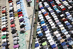 June 23, 2017 - Kathmandu, Nepal - Nepalese Muslims offer prayers on the final Friday of the month-long Ramadan at a mosque in Kathmandu, Nepal on Friday, June 23, 2017. (Credit Image: © Skanda Gautam via ZUMA Wire)