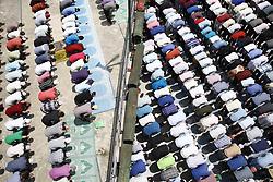 June 23, 2017 - Kathmandu, Nepal - Nepalese Muslims offer prayers on the final Friday of the month-long Ramadan at a mosque in Kathmandu, Nepal on Friday, June 23, 2017. (Credit Image: © Skanda Gautam via ZUMA Wire)