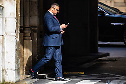 © Licensed to London News Pictures. 22/05/2019. London, UK. Parliamentary Under-Secretary of State for Exiting the European Union James Cleverly MP seen at Parliament. Ministers have requested a series of private meetings with Prime Minister Theresa May to discuss concerns about proposed changes to the Withdrawal Bill Agreement. Photo credit: Rob Pinney/LNP