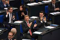 DEU, Deutschland, Germany, Berlin, 24.10.2017: FDP-Fraktionschef Christian Lindner bei der konstituierenden Sitzung des 19. Deutschen Bundestags mit Wahl des Bundestagspräsidenten.