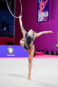 Fredrikke Tynning Bergestuen from Norway competing in the Rhythmic Gymnastics World Cup at Vitrifrigo Arena on 28/29 May 2021, Pesaro, Italy. She was born in Asker on June 17, 2000.<br /> .