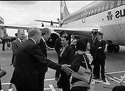 Vietnam Refugees Arrive .09/08/1979.08/09/1979.9th August 1979.Minister of Foreign Affairs Michael O'Kennedy greets the refugees on arrival at Dublin Airport.