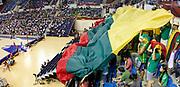 DESCRIZIONE : Izmir Turchia Turkey Men World Championship 2010 Campionati Mondiali Lebanon Lithuania <br /> GIOCATORE : Supporters Flag Lithuania Tifosi Bandiera Lituania<br /> SQUADRA : Lithuania Lituania<br /> EVENTO : Izmir Turchia Turkey Men World Championship 2010 Campionato Mondiale 2010<br /> GARA : Lebanon Lithuania Libano Lituania<br /> DATA : 02/09/2010<br /> CATEGORIA : tifosi supporters<br /> SPORT : Pallacanestro <br /> AUTORE : Agenzia Ciamillo-Castoria/M.Kulbis<br /> Galleria : Turkey World Championship 2010<br /> Fotonotizia : Izmir Turchia Turkey Men World Championship 2010 Campionati Mondiali Lebanon Lithuania<br /> Predefinita :