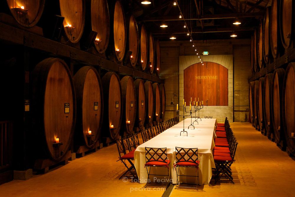 Dining room at Merryvale Vineyards in Napa Valley, California.